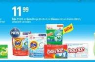 Tide PODS Or Gain Flings - 23-35 Ct - Or Bounce Dryer Sheets - 200 Ct