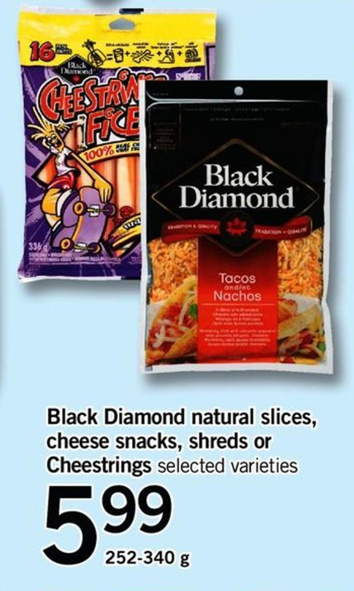 Black Diamond Natural Slices - Cheese Snacks - Shreds Or Cheestrings - 252-340 G