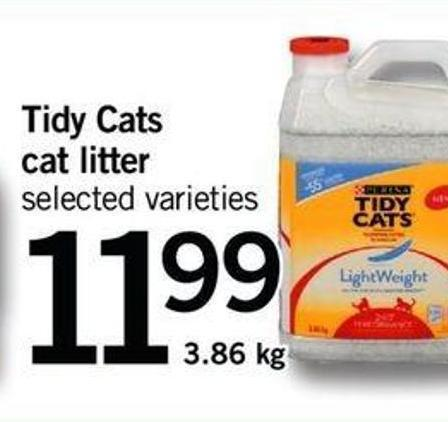 Tidy Cats Cat Litter - 3.86 Kg