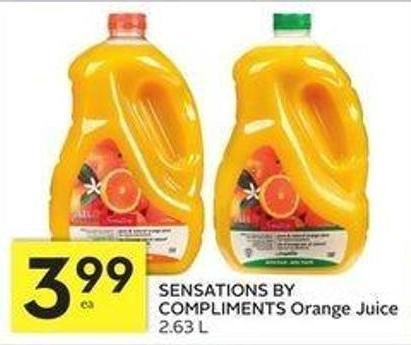 Sensations By Compliments Orange Juice