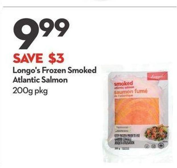 Longo's Frozen Smoked Atlantic Salmon
