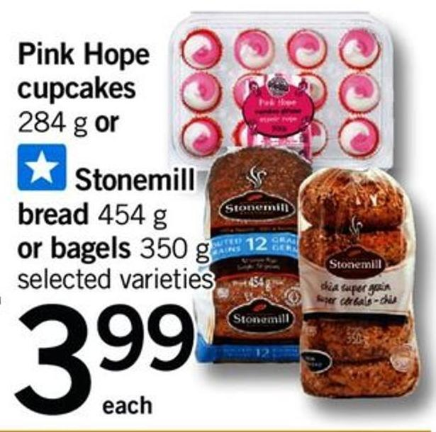 Pink Hope Cupcakes - 284 G Or Stonemill Bread - 454 G Or Bagels - 350 G