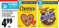 General Mills Family Size Cereal 570 - 725 g