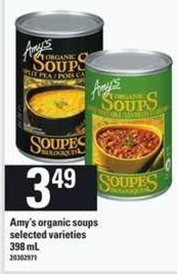 Amy's Organic Soups - 398 mL