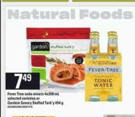 Fever Tree Soda Mixers - 4x200 Ml Or Gardein Savory Stuffed Turk'y - 454 G