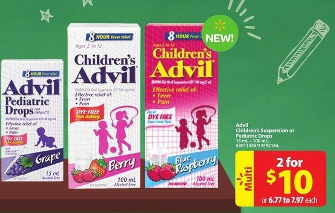Advil Children's Suspension or Pediatric Drops