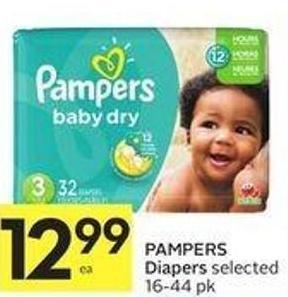 Pampers Diapers Selected 16-44 Pk