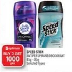 Speed Stick Antiperspirant/deodorant