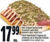 New Zealand Spring Lamb Frenched Lamb Rack
