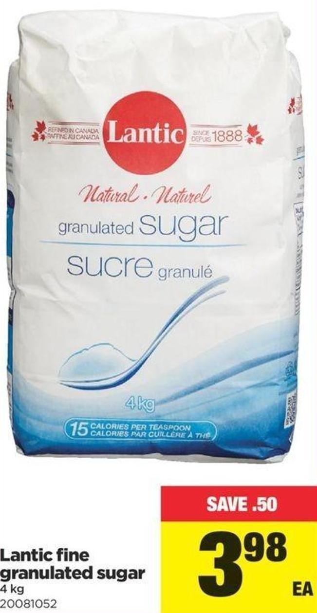 Lantic Fine Granulated Sugar - 4 Kg