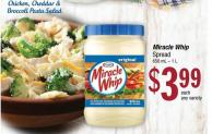 Chicken - Cheddar & Broccoli Pasta Salad Miracle Whip Spread 650 mL – 1 L