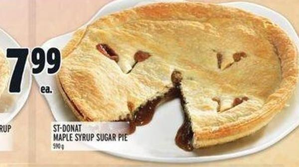 St-donat Maple Syrup Sugar Pie