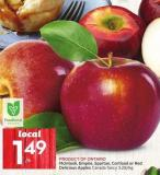 Mcintosh - Empire - Spartan - Cortland or Red Delicious Apples Product Of Ontario