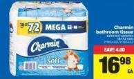 Charmin Bathroom Tissue - 18=72 Rolls