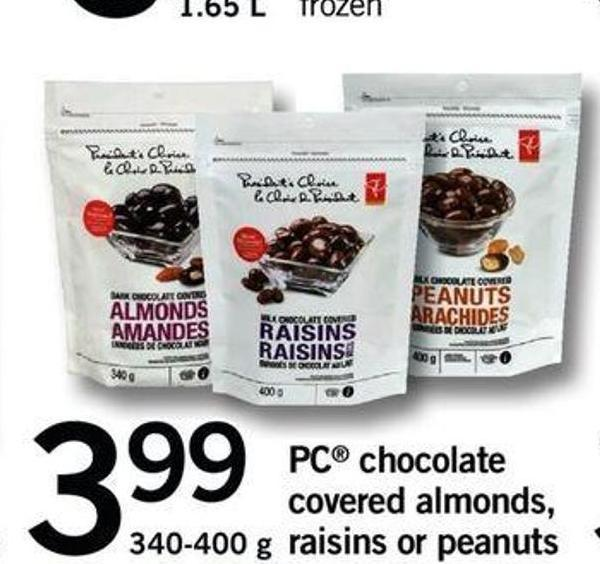 PC Chocolate Covered Almonds - Raisins Or Peanuts