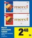 Merci Chocolate Tablet - 100 g
