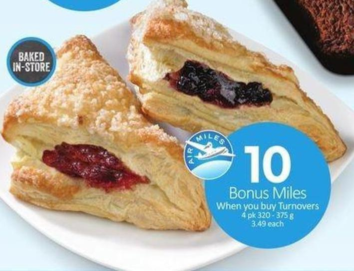 Turnovers 4 Pk - 10 Air Miles Bonus Miles