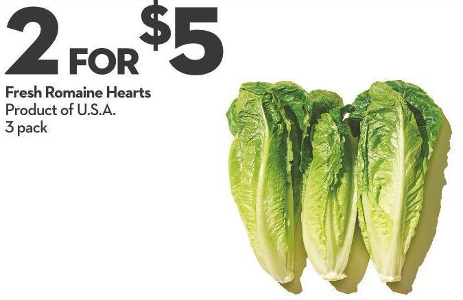 Fresh Romaine Hearts