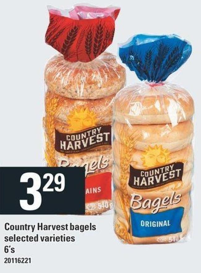 Country Harvest Bagels - 6's