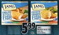 Janes Breaded Value Fish