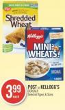 Post or Kellogg's Cereals