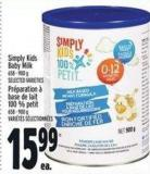Simply Kids Baby Milk 658 - 900 g
