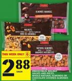 Irresistibles Walnut Halves And Pieces - Whole Natural Almonds Or Chocolate Covered Almonds
