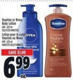 Vaseline Or Nivea Body Lotion