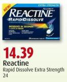 Reactine Rapid Dissolve Extra Strength 24