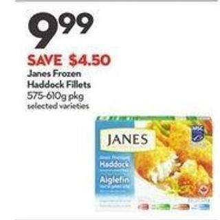 Janes Frozen Haddock Fillets
