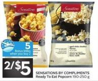 Sensations By Compliments Ready To Eat Popcorn 190-250 g - 5 Air Miles Bonus Miles