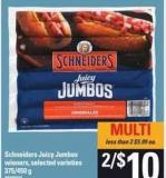 Schneiders Juicy Jumbos - 375/450 g