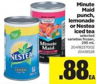Minute Maid Punch - Lemonade Or Nestea Iced Tea - 295 mL