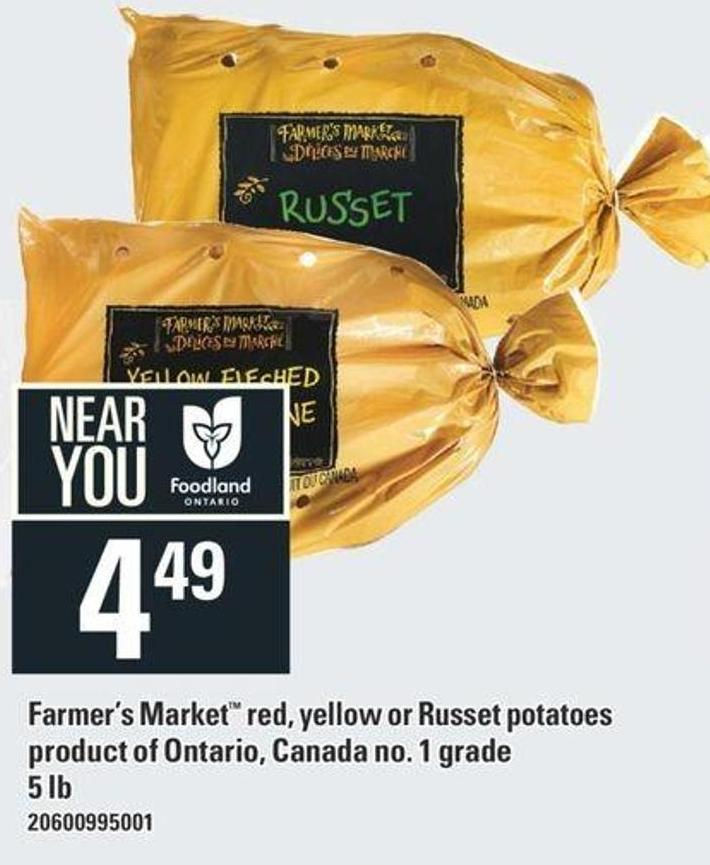 Farmer's Market Red - Yellow Or Russet Potatoes - 5 Lb