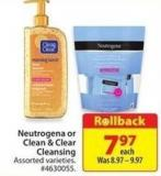 Neutrogena or Clean & Clear Cleansing