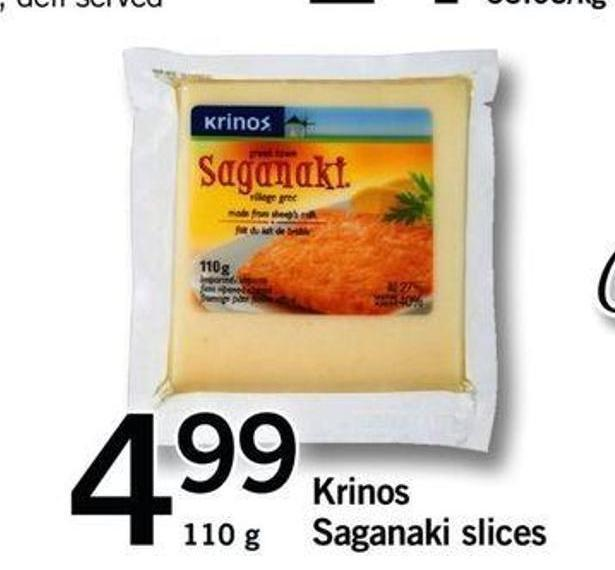 Krinos Saganaki Slices