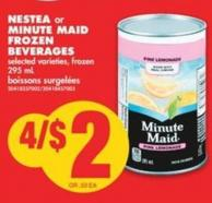 Nestea or Minute Maid Frozen Beverages - 295 mL