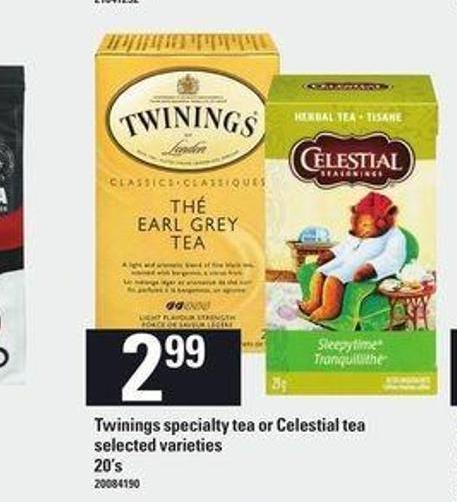 Twinings Specialty Tea Or Celestial Tea - 20's