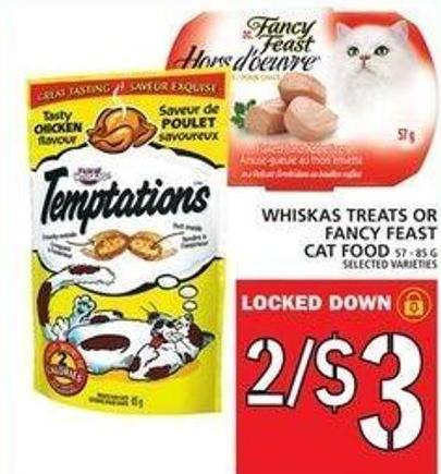 Whiskas Treats Or Fancy Feast Cat Food
