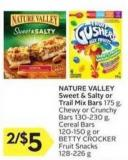 Nature Valley Sweet & Salty or Trail Mix Bars