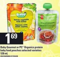Baby Gourmet Or PC Organics Protein Baby Food Pouches - 128 mL