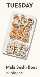 Maki Sushi Boat 21 Pieces