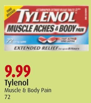 Tylenol Muscle & Body Pain 72