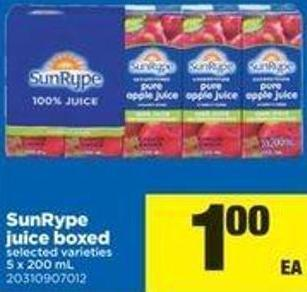 Sunrype Juice Boxed - 5 X 200 Ml