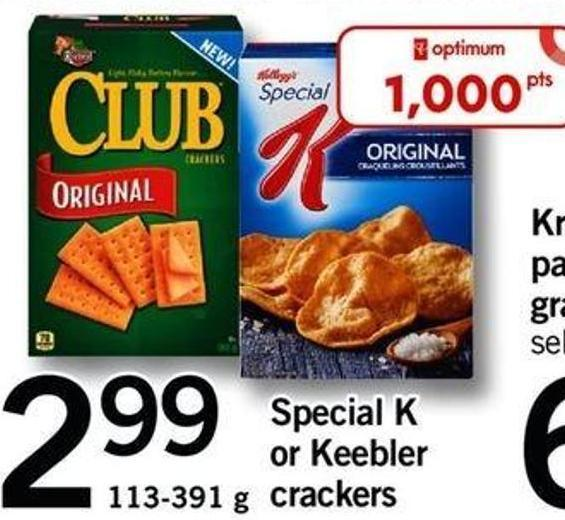 Special K Or Keebler Crackers - 113-391 G