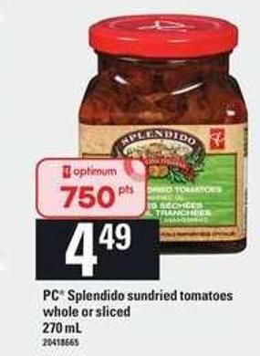 PC Splendido Sundried Tomatoes - 270 mL
