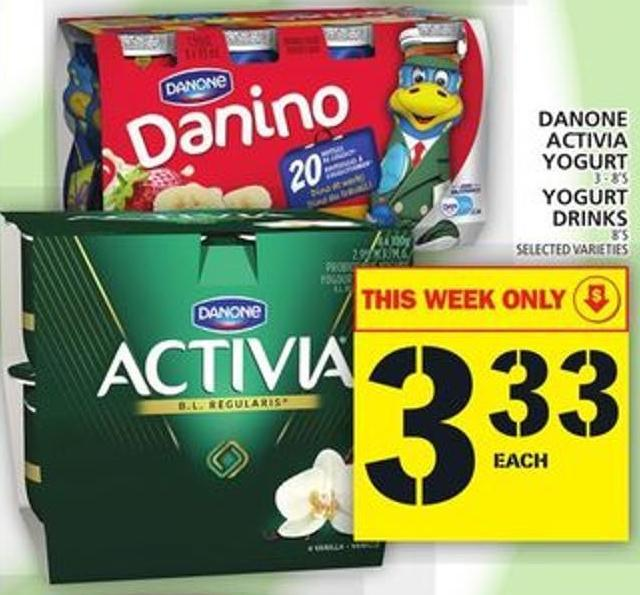 Danone Activia Yogurt Or Yogurt Drinks