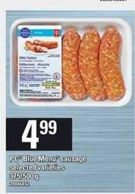PC Blue Menu Sausage - 375/500 g