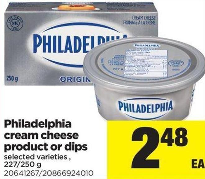 Philadelphia Cream Cheese Product Or Dips.227/250 G