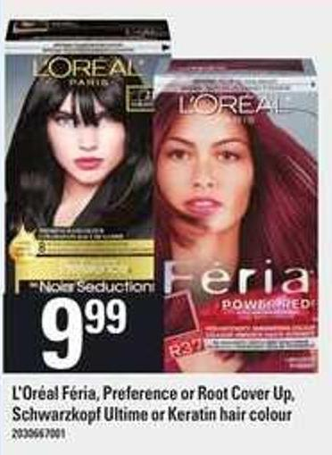 L'oréal Féria - Preference Or Root Cover Up - Schwarzkopf Ultime Or Keratin Hair Colour